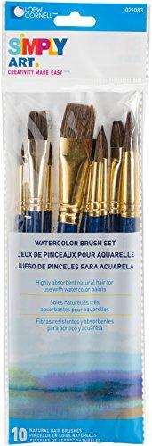 Loew Cornell Simplement Art Naturel Ensemble de Brosse à Cheveux, Multicolore, 0.63 x 7.87 x 27.94 cm
