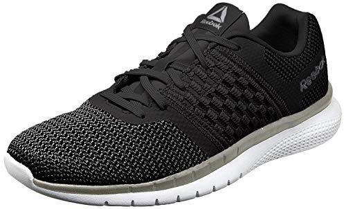 Reebok Men's Print Prime Runner Sneaker, Black/Gravel/tin Grey/White, 8.5 M US