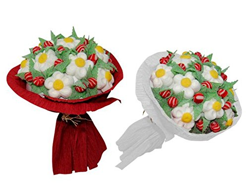Lote de 2 Ramos de Golosinas Surtidas 300 Gramos (Unidad). Juguetes y Regalos Baratos para Fiestas de Cumpleaños, Bodas, Bautizos, Comuniones y Eventos.