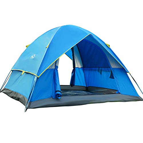 Wind Tour 3-4 Person Lightweight Backpacking Camping Tent Waterproof Double Layer Family Tent for Hiking Fishing Outdoor Travel Picnic
