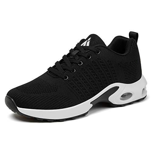Mishansha Womens Running Shoes Lightweight Jogging Training Air Cushion Walking Shoes Fitness Sport Athletic Tennis Sneaker 11 Black