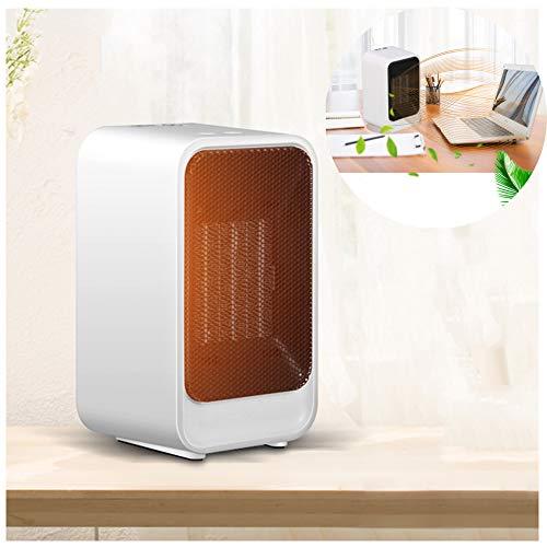 DASGF draagbare mini-ventilator, 800 W, PTC keramiek, persoonlijke ruimteverwarming omkiepen en oververhittingsbeveiliging, kantoorhuishouden mini-heater