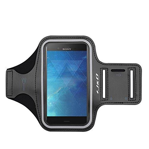 J&D Compatibile per Sony Xperia XZ1/LG G8S ThinQ/Lenovo Z6 PRO/LG G8X ThinQ/Oppo Reno3 PRO 5G/Realme X50 5G Fascia da Braccio Sportiva, Bracciale con Portachiavi Slot, Connessione Auricolare