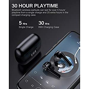 Wireless Earbuds Bluetooth 5.0 Headphones Touch Control with Microphone Binaural Calls Premium Sound