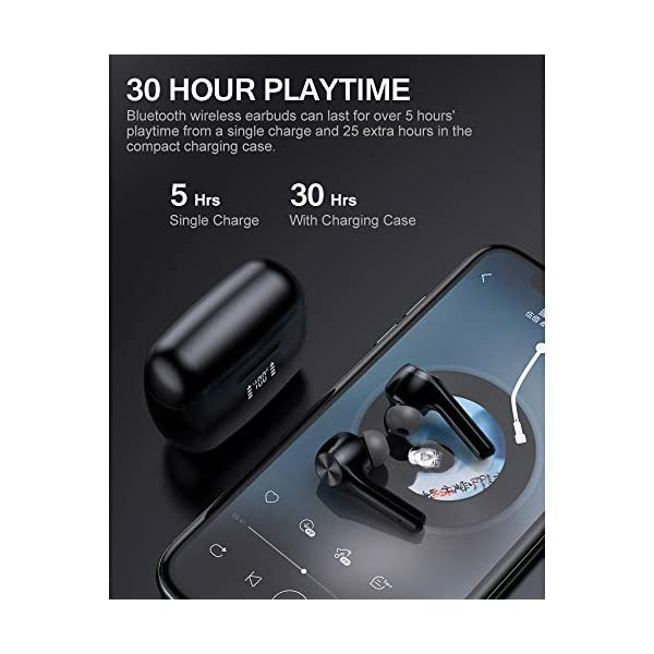 Wireless Earbuds Bluetooth 5.0 Headphones Touch Control with Microphone Binaural Calls Premium Sound 4