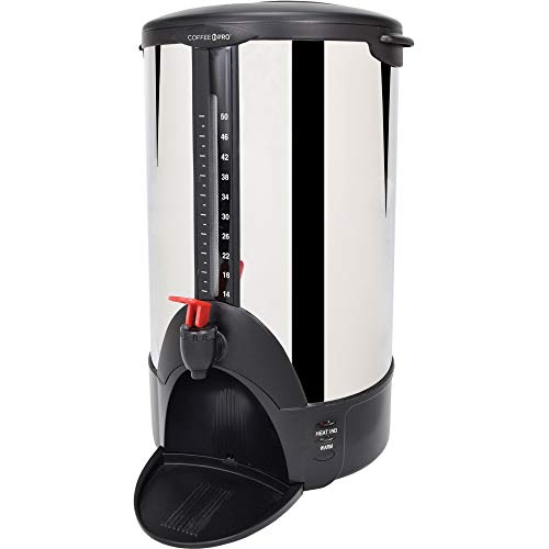 Coffee Pro CFPCP50 Home/Business Coffee Maker, 50 Cup Double Wall Percolating Urn