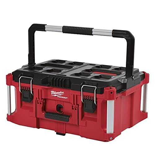 MILWAUKEE'S Electric Tool 48-22-8425 Pack out, Large Tool Box, Red