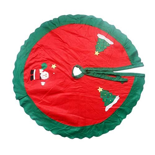 Jupe sapin de Noël, fournitures de Noël, jupe père Noël, non tissé 90cm, rouge (Taille : Old man)