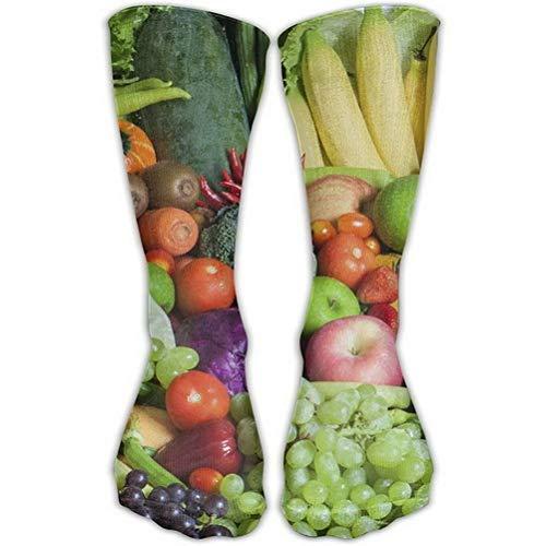 Girls Classics One Size Warm Winter Knee High Socks Unisex Fruit and Vegetables Long Tube Stockings for Athletic Soccer