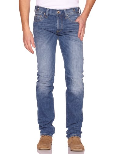 Freesoul -  Jeans - Straight - Basic - Uomo Bleu (Grove) W34/L34