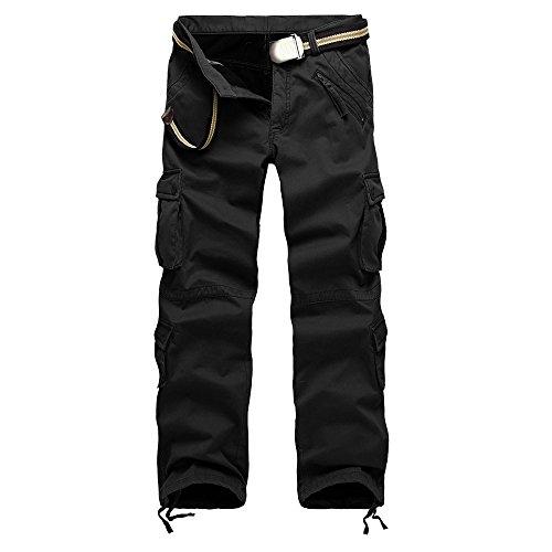 Mieuid heren cargobroek lang vintage werkbroek outdoor chic vrijetijdsbroek sweatpants chino-stof broek jogging pants zonder