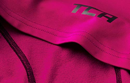 TCA SuperThermal Baselayer Damen Laufshirt/Funktionsshirt – Langarm –Beere, XS - 3