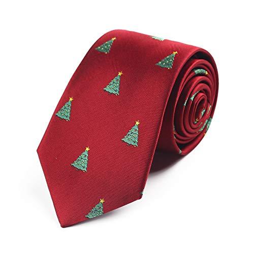 PGDD kerststropdas, kerstboom 7,5 cm stropdas, nieuwe kerststropdas