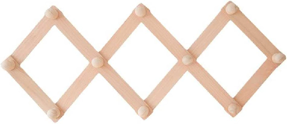 N\C Retractable Solid Wood Arlington Mall Coat Hat Fixed price for sale Rack Accor Wall-Mounted