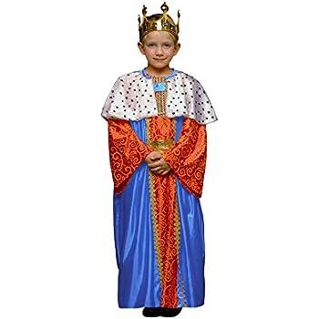 Disfraz de Rey Mago Azul para niños en varias tallas: Amazon.es ...