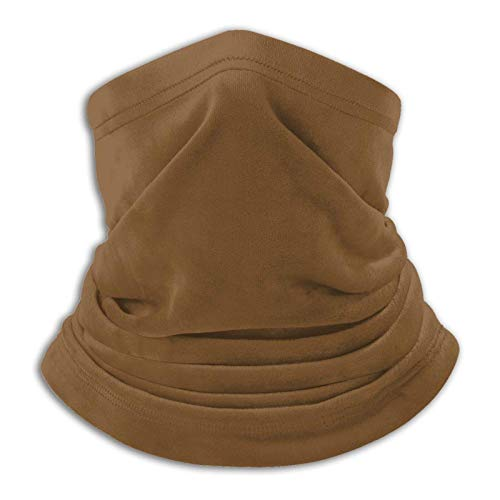 Lawenp Revestimiento facial de redecilla marrón para adultos para hombres y mujeres, pasamontañas para calentar el cuello, pañuelos, lavables y reutilizables, cómodos