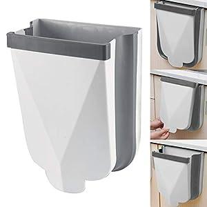 Cubos de Basura Cocina Plegable Colgante, Basura Plegable Extraible Bote de Basura para la Cocina, Dormitorio, Coche, Baño y Oficina, 6L