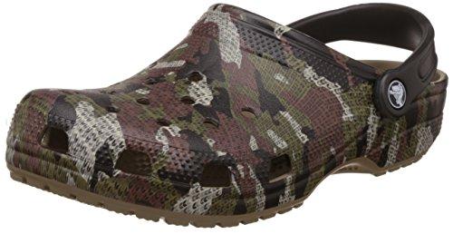 Crocs ClassicCamoClg, Sabot Unisex – Adulto, Marrone (Khaki), 38/39 EU