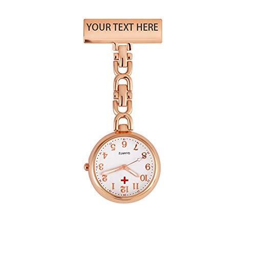 Personalisierte Krankenschwester Fob Uhr Gravierte Namensschild Abzeichen Krankenschwester Uhr Medizinische Anstecknadel Uhr für Frauen
