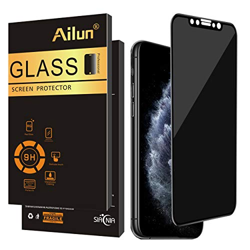 Ailun Privacy Screen Protector Compatible iPhone Xs /11Pro iPhone X 5.8Inch 1Pack Anti Spy Tempered Glass Anti Scratch Full Notch Coverage