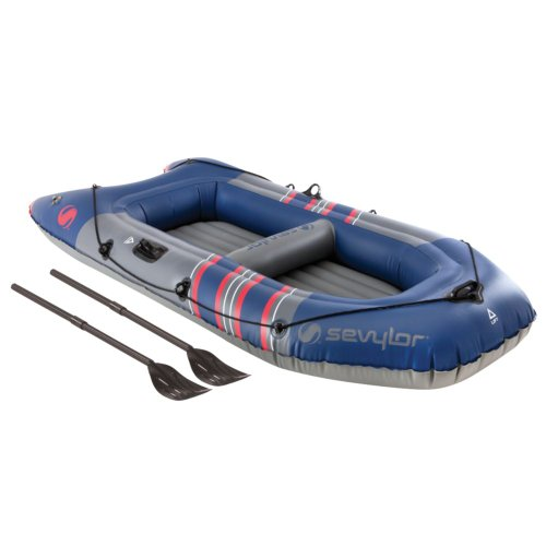 Sevylor Colossus 3-Person Boat , Black/Flag Red
