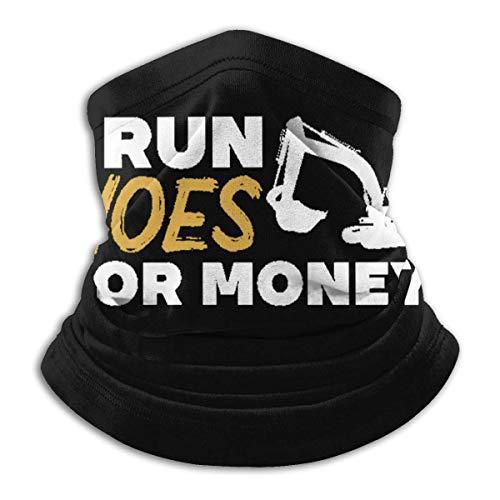 QDAS mannen vrouwen Ik loop hakken voor geld halsmanchet verwarmer ademende haarband voor stof outdoor sport zwart