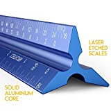 Architectural Scale Ruler, Metal Ruler of Solid Aluminum, Great Drafting Tools...