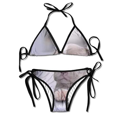 WowMyGod Bikini,Death Daylight Bento Bikini Women's Summer Badebekleidung Triangle Top Bikinis Badeanzug Sexy 2-Piece Set