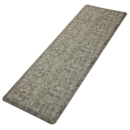 Pauwer Oversized Anti Fatigue Comfort Mat for Kitchen Floor Standing Desk Thick Cushioned Kitchen Floor Mats Non Slip Waterproof Kitchen Runner Rug Comfort Standing Mat 20'x60',Gray