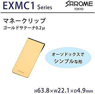 SAROME TOKYO マネークリップ ゴールドサテーナ0.2μ EXMC1-06