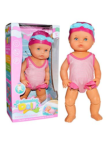 Schwimmpuppe/Wasser-Babypuppe - Interaktive Schwimmpuppe Baby Puppe Mit Schwimm Funktion, Wasserdichtes Badewannenspielzeug Für Kinder Baby,ungenießbare Mini-Heimdekorationen Ohne Silikon