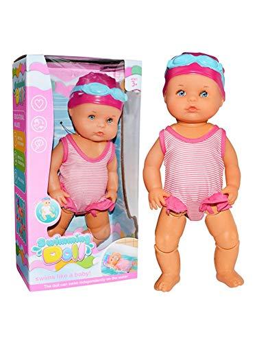 Hearthrousy Schwimmende Puppe Elektrische Mini Badepuppe Kinder Wasserspielzeug Nicht Silikon ungenießbar Mini Dekorationen Spielen Schwimmpuppe Urlaub Geburtstagsgeschenke für Jungen und Mädchen