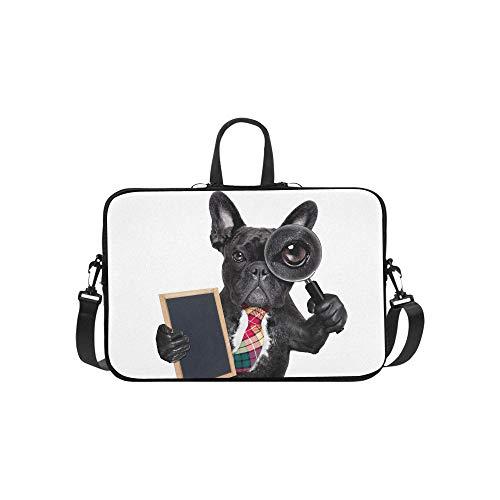 Bulldog francés Búsqueda de Perros Encontrar un maletín espía Bolso para computadora portátil Bolso Bandolera Bandolera de Trabajo Bolso Bandolera para Viajes de Negocios