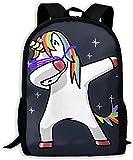 gxianyuyib Sac à dos de voyage Sac à dos pour ordinateur portable Grand sac à langer tamponnant Unicorn Rainbow Backpack Sac à dos scolaire pour femmes et hommes