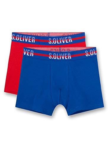 s.Oliver Jungen Shorts im Doppelpack Boxershorts, Blau (Nautical Blue 50060), (Herstellergröße: 152) (2er Pack)