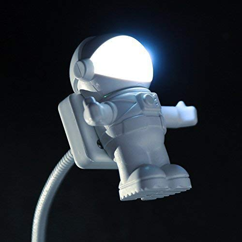 Soondar Hot Sale Brand New Creative Spaceman Astronaut LED Flexible USB Light for Laptop PC Notebook