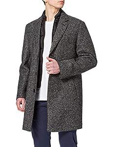 Bugatti Herren 625128-64087 Wollmantel, schwarz, 27
