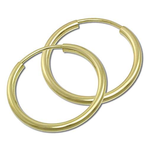 GoldDream Gold Ohrring Creolen 20mm Simply Echtschmuck 333 Gelbgold GDO0002Y