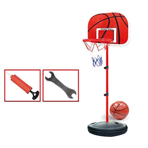 Garneck - Juego de baloncesto para niños y baloncesto portátil, juego de pelotas de baloncesto y pelotas en el interior D con bomba y placer