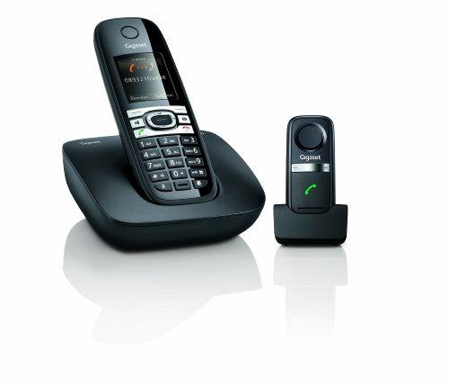 Gigaset C610 Dect-Schurlostelefon, Babyphonefunktion, incl. L410 DECT-Freisprech-Clip, schwarz