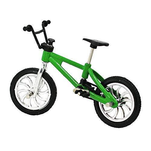 Miniatura Bicicleta De Montaña Modelo Al Aire Libre Casa De Muñecas Accesorio Niños DIY Juguete - Verde