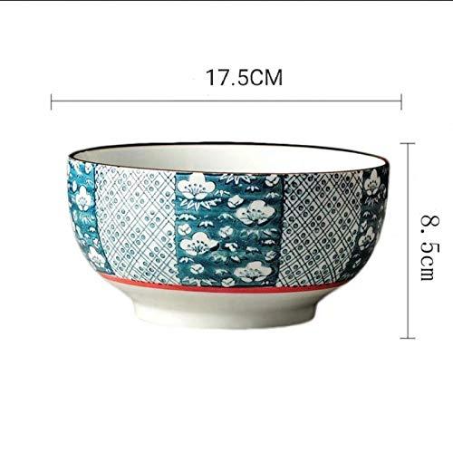 Keramik Nudelschale Nach Hause Große Schüssel Suppe Schüssel Nudelschale Student Mahlzeit Schüssel Unterglasur Farbe Handbemaltes Geschirr