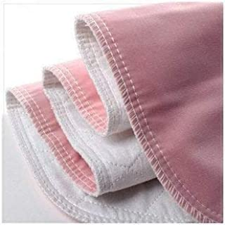 Reusable Washable Bed Pads for Incontinence – Pack of 4 Underpads Made of Soft Cotton Polyester Blend with Leakproof Vinte...