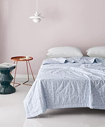 Manta de Microfibra Color sólido, Extra Suave Mantas para Sofás, Multifuncional para sofá, Cama, Viajes, Adultos, niños -Azul_155 * 215cm1.85kg