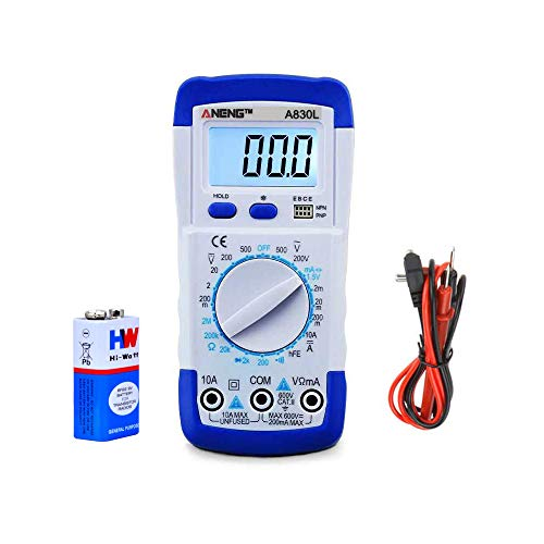 amiciSmart 830L Digital Multimeter AC/DC Voltage Current Resistance Diode Transistor hFE Management Multimeter