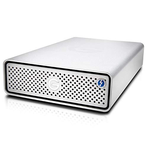 G-Technology 6TB G-Drive with Thunderbolt 3 and USB-C Desktop External Hard Drive, Silver - 0G10491