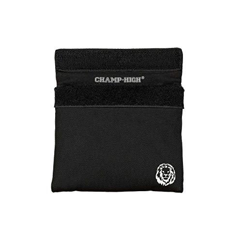 CHAMP HIGH - NEU - Smell Proof Bag | geruchsdichte, geruchssichere Tasche mit AKF-Technologie, 12x14 cm, für Reisen, Festivals, Konzerte (Schwarz)