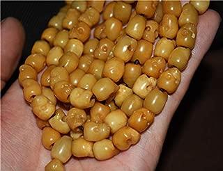 NATURTAL Tibetan Yak Bone Carved Skull Bracelet Skeleton KAPALA Necklace NETSUKE MALA Prayer Beads Buddhism Rosary 108