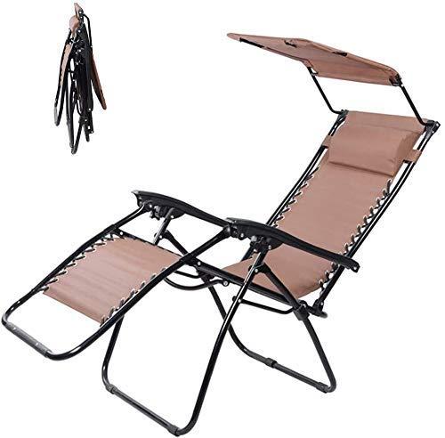WUAZ Silla Plegable, Sun, Silla del Portátil Ajustable del Respaldo De La Playa De Terraza Al Aire