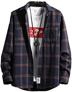 [フォーリーフ] シャツ メンズ チェック チェック柄 長袖 チェックシャツ 秋服 秋 冬服 秋冬 メンズファッション ストリート系